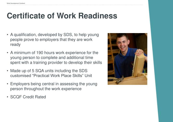 Certificate of Work Readiness