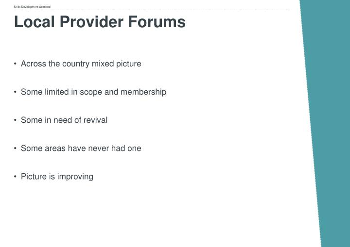 Local Provider Forums
