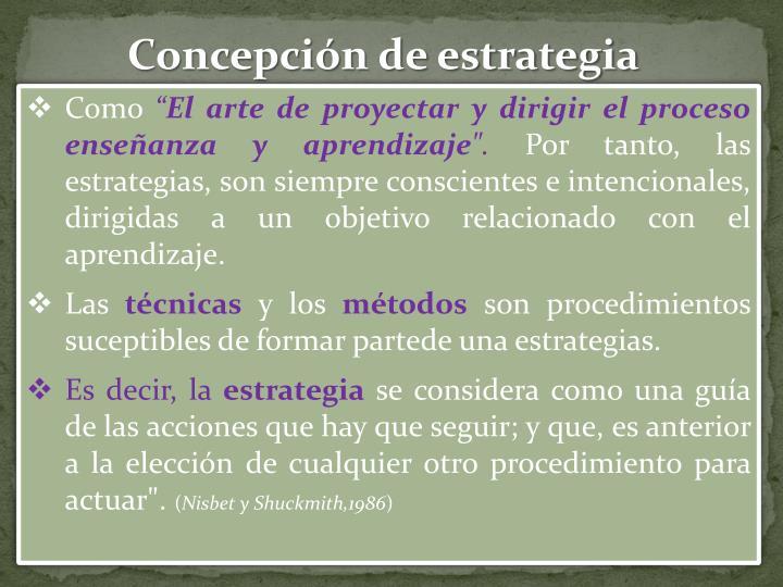 Concepción de estrategia