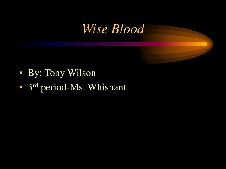 wise blood essay questions