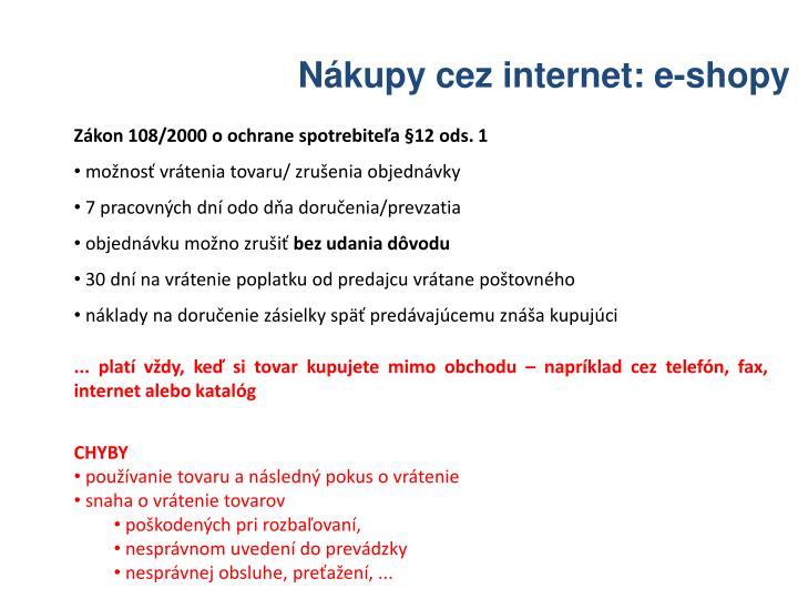 Nákupy cez internet: