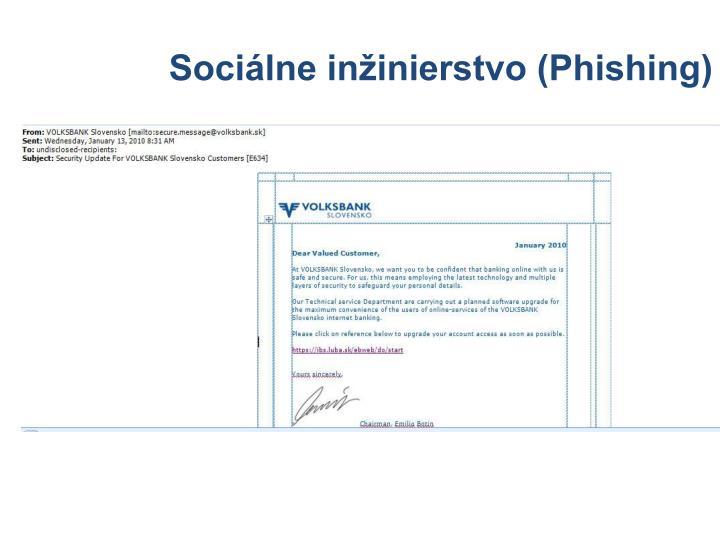 Sociálne inžinierstvo (Phishing)