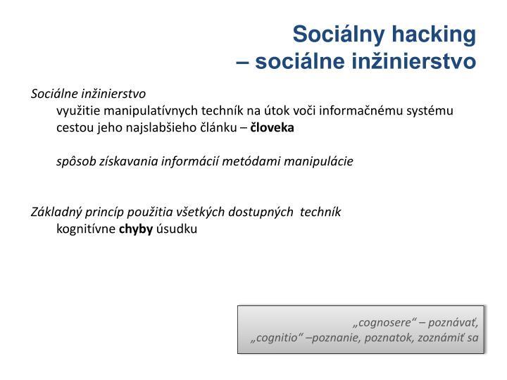 Sociálny hacking