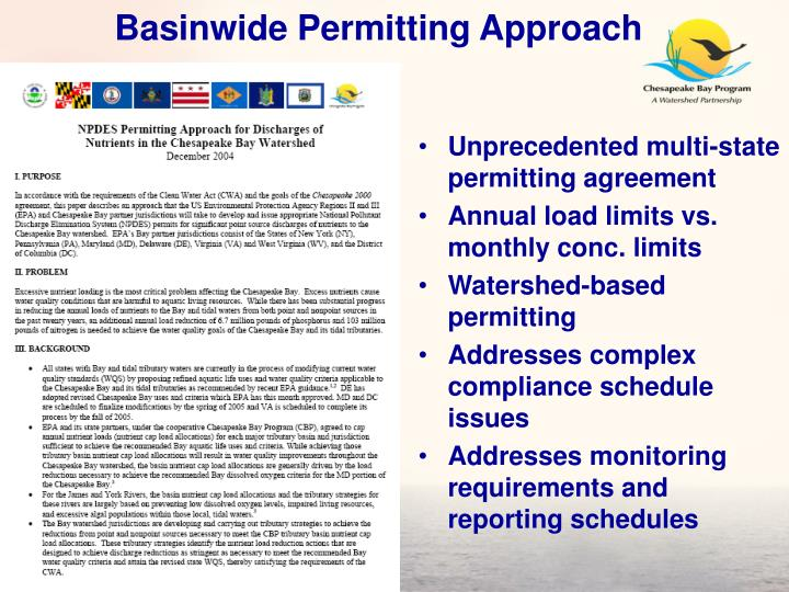 Basinwide Permitting Approach