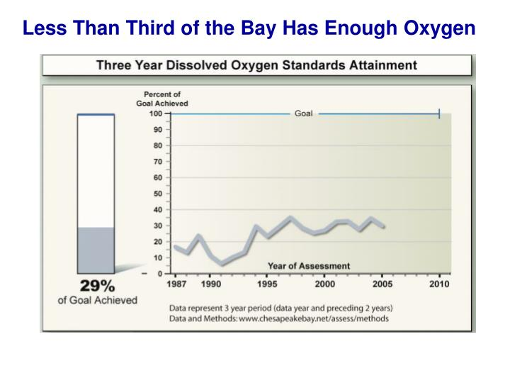Less Than Third of the Bay Has Enough Oxygen