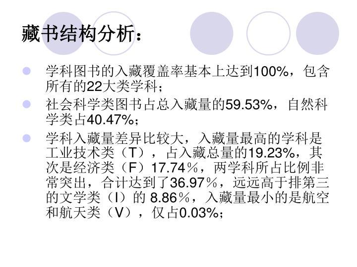 藏书结构分析: