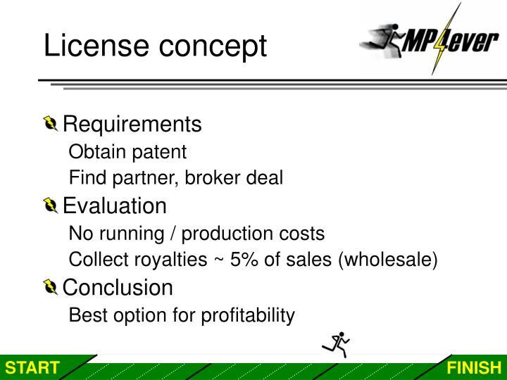License concept