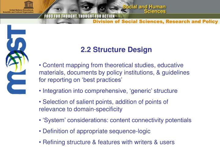 2.2 Structure Design