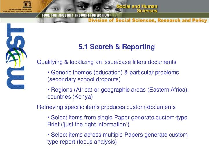 5.1 Search & Reporting