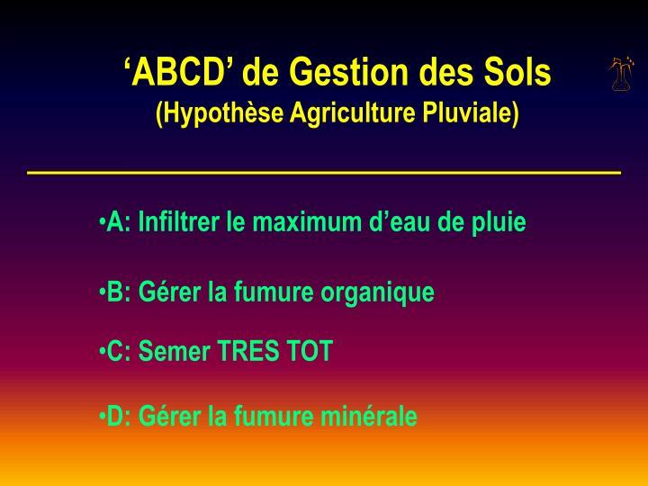 'ABCD' de Gestion des Sols