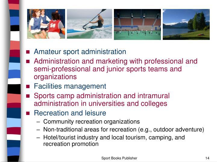 Amateur sport administration