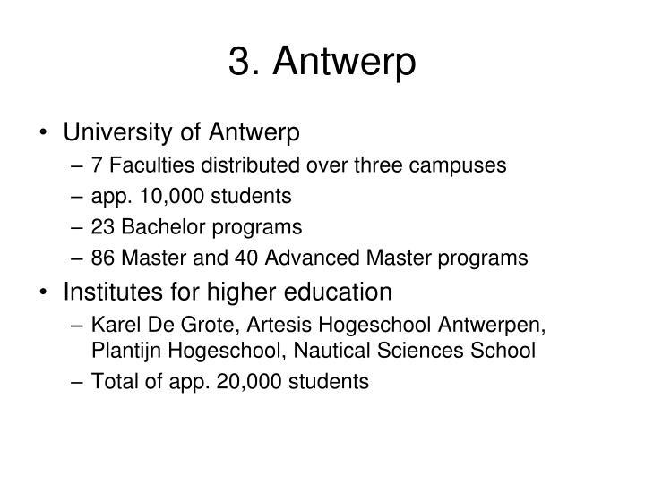 3. Antwerp