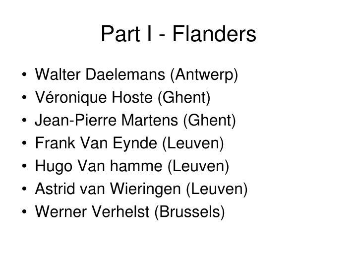 Part I - Flanders