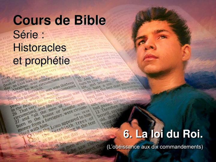 Cours de Bible