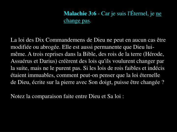 Malachie 3:6