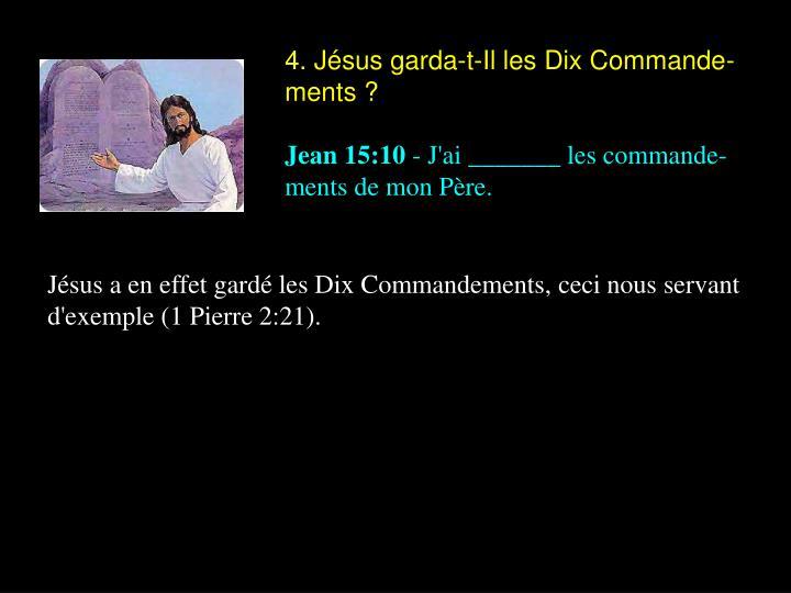 4. Jésus garda-t-Il les Dix Commande-ments ?