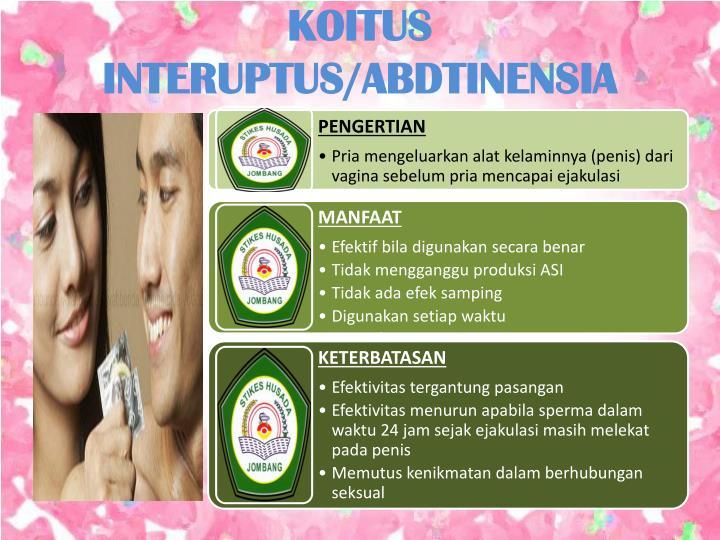 KOITUS INTERUPTUS/ABDTINENSIA