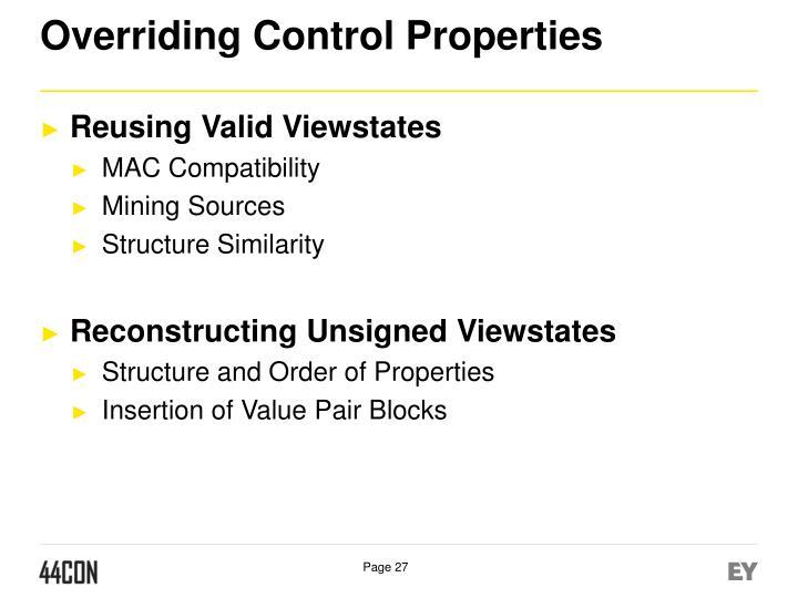 Overriding Control Properties