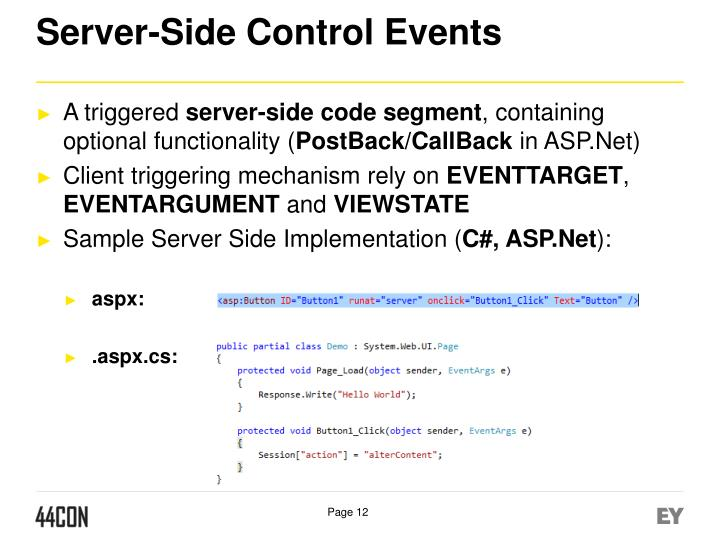 Server-Side Control Events