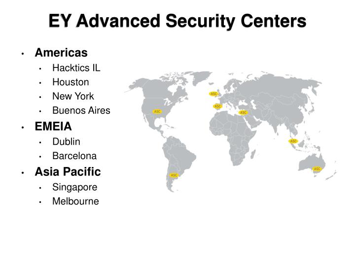 EY Advanced Security Centers