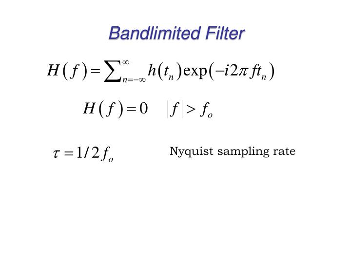 Bandlimited Filter