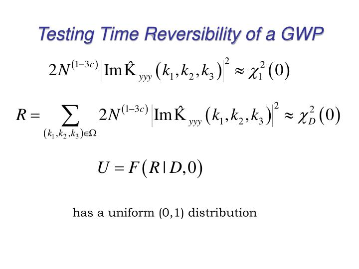 Testing Time Reversibility of a GWP