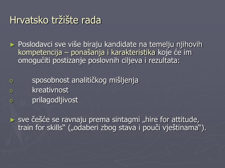 Hrvatsko tržište rada