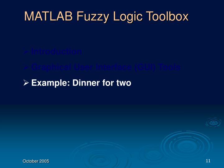 MATLAB Fuzzy Logic Toolbox
