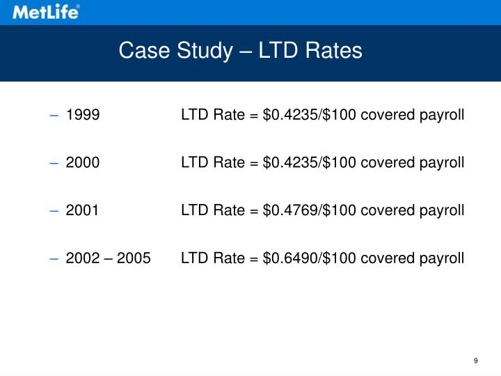 Case Study – LTD Rates