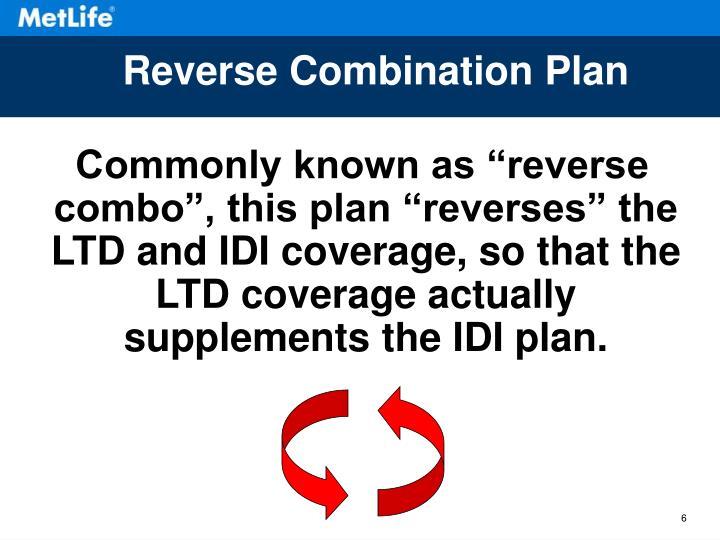 Reverse Combination Plan