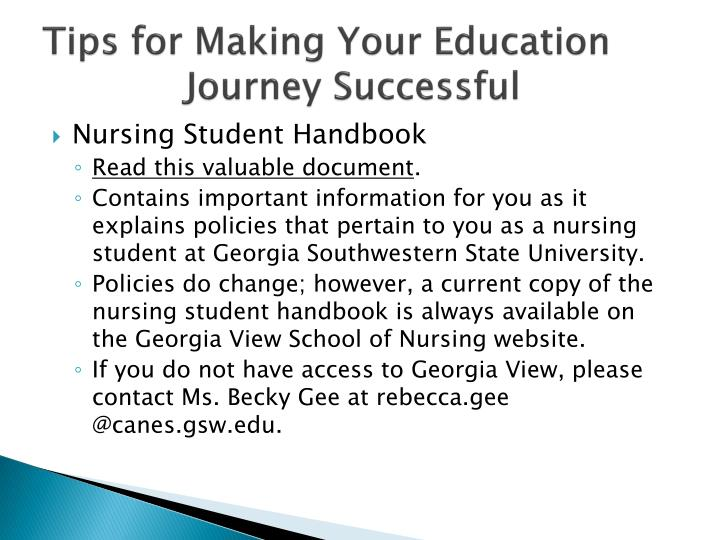 Tips for making your education journey successful1