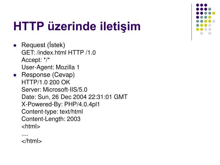 HTTP üzerinde iletişim