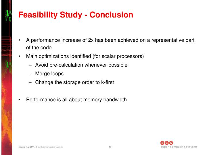 Feasibility Study - Conclusion