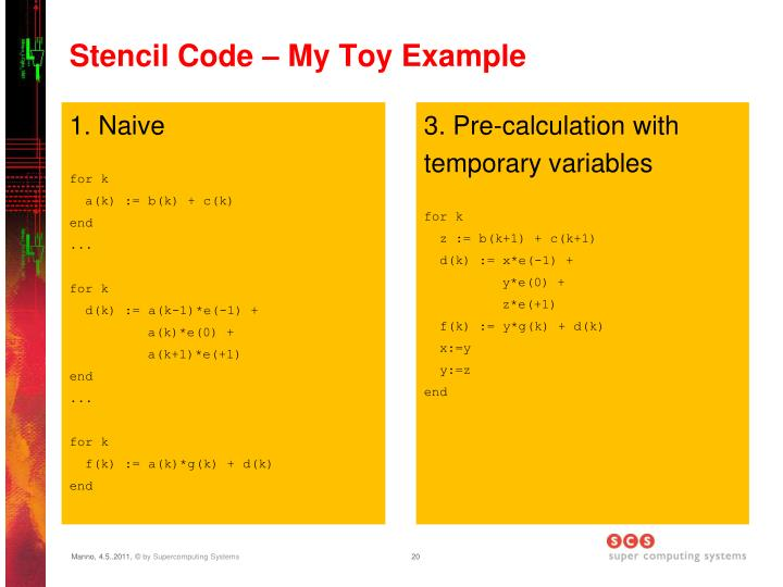 Stencil Code – My Toy Example