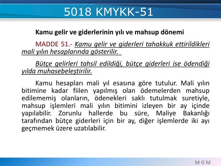 5018 KMYKK-51