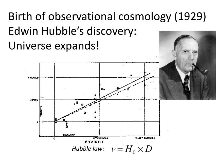 Birth of observational cosmology 1929 edwin hubble s discovery universe expands