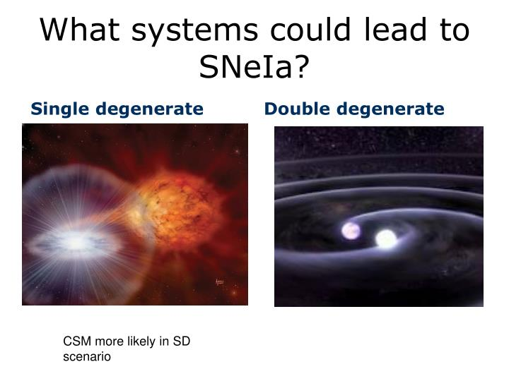 What systems could lead to SNeIa?