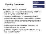 equality outcomes