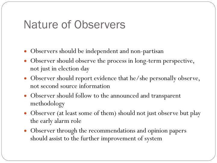 Nature of Observers