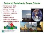 basics for sustainable secure futures