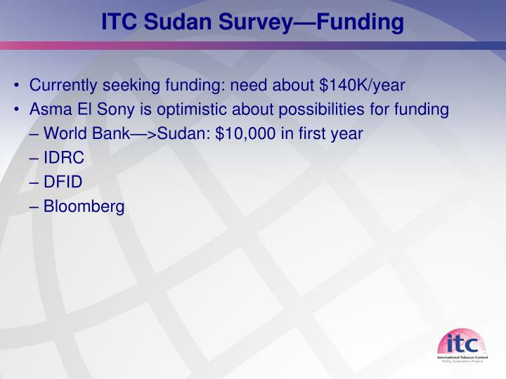 ITC Sudan Survey—Funding
