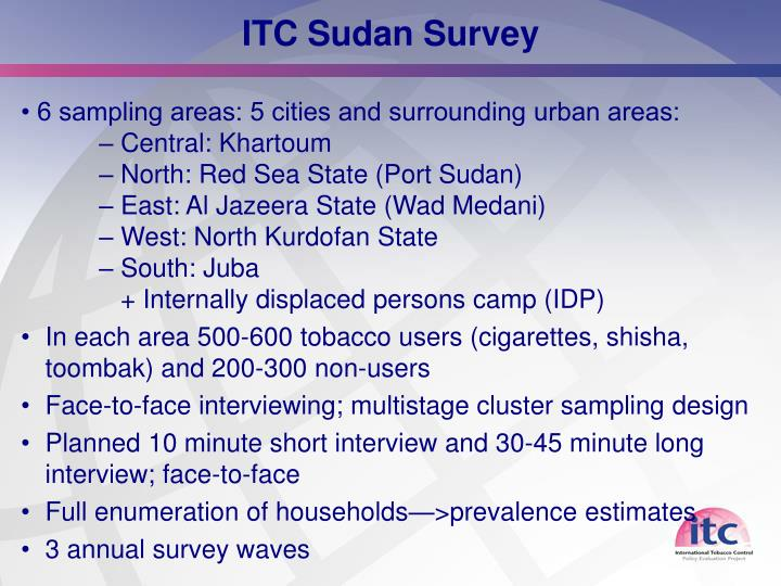 ITC Sudan Survey