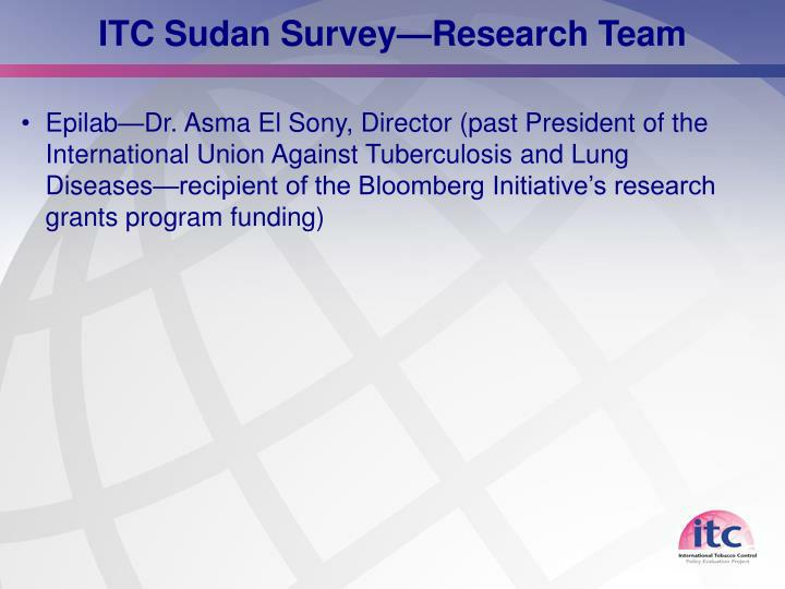 ITC Sudan Survey—Research Team