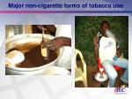 major non cigarette forms of tobacco use