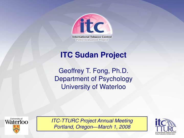 ITC Sudan Project