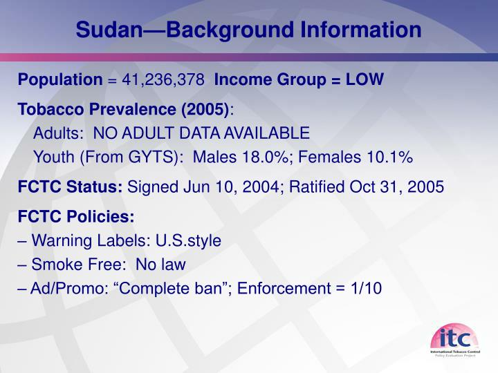 Sudan background information