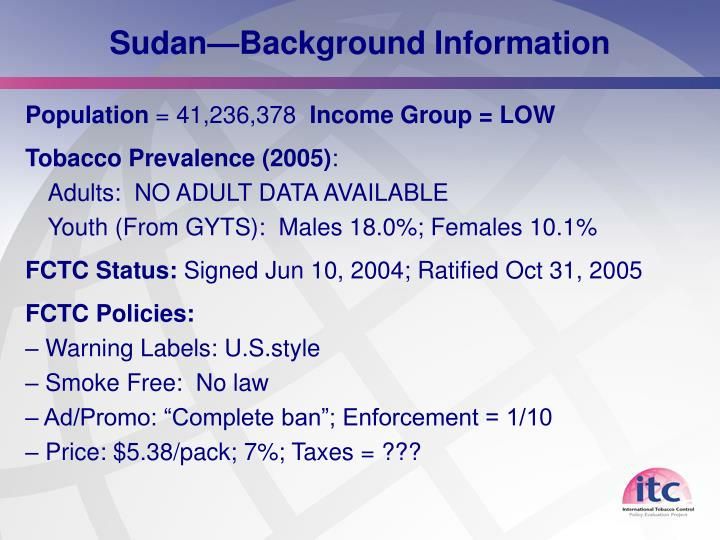 Sudan—Background Information