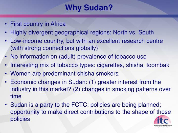 Why Sudan?