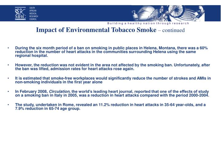 Impact of Environmental Tobacco Smoke