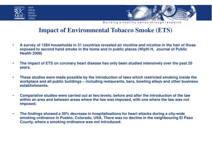 Impact of Environmental Tobacco Smoke (ETS)